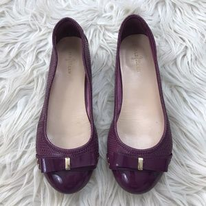 Cole Haan Sz 6.5 Nike Air Purple Bow Ballet Flats